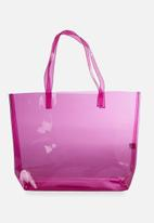 Cotton On - Crystal clear tote - pink