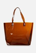 Cotton On - Crystal clear tote - brown