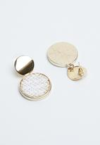Joy Collectables - Drop earrings - gold & white