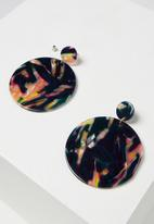 Cotton On - Resin round statement earring - multi