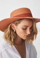 Cotton On - Ascot boater hat - rust