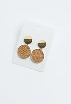 Joy Collectables - Drop earrings - gold & brown