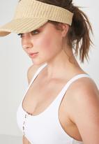 Cotton On - Straw visor - beige
