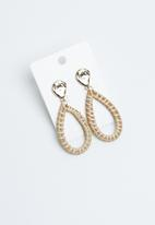Joy Collectables - Woven teardrop earrings - neutral