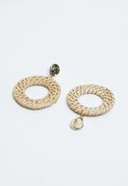 Joy Collectables - Woven hoop earrings - neutral