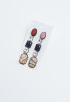 Joy Collectables - Stone statement earrings - mutli