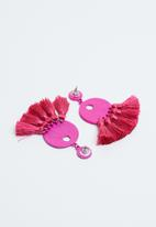 Joy Collectables - Fringe earrings - pink
