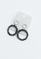 Joy Collectables - Shimmer hoop earrings - black