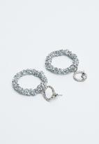 Joy Collectables - Shimmer hoop earrings - silver