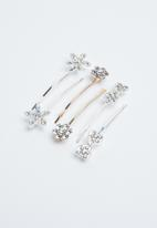 Joy Collectables - 4 Pack hairclips - rose gold & silver