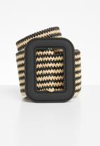 Joy Collectables - Stripe webber belt - brown
