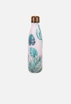Typo - Metal drink bottle - pink & green