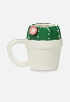 Typo - Novelty shaped mug - white & green