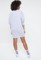 Missguided - Colorado long sleeve knot detail dress - grey