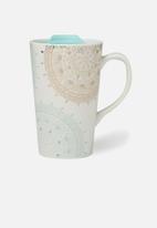 Typo - Nomad travel mug - gold & turquoise