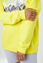 Missguided - Oversized graphic sweat - yellow