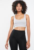 Missguided - Ribbed co-ord sports bra - grey