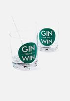 Typo - Gin drinker set
