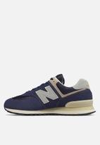 New Balance  - Premium leather 574 - navy