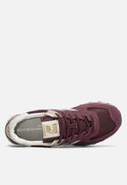 New Balance  - Premium leather 574 - burgundy