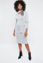 Vero Moda - Sidse glory o-neck dress - grey