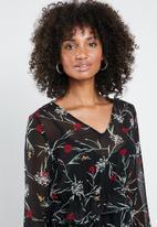 Vero Moda - Becca long sleeve short dress - black