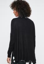 ONLY - Kleo long sleeve v-neck pullover - black