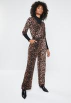 ONLY - Anni 3/4 Jumpsuit - brown