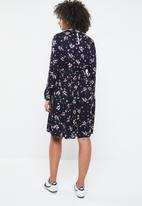 Vero Moda - Maya long sleeve dress - navy