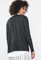 ONLY - Kleo long sleeve v-neck pullover - dark grey
