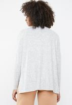 ONLY - Kleo long sleeve v-neck pullover - light grey