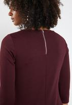 ONLY - Brilliant 3/4 dress - burgundy