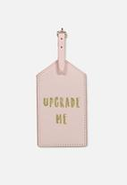 Typo - Luggage tag - pink
