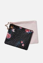 Typo - Duo bag set - black & pink