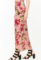 Forever21 - Floral wrap skirt - pink