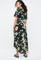 Missguided - High low dress floral - multi