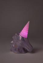 Typo - Mini ceramic novelty light - purple & pink
