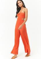 Forever21 - Cutout jumpsuit - orange