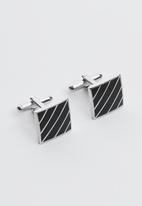 Joy Collectables - Emile cuff links - black & silver