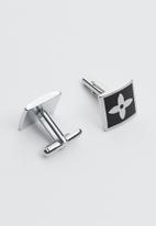 Joy Collectables - Garrett cufflinks - black & silver