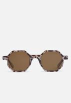 Superbalist - Hexagon framed sunglasses - brown