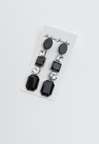 Joy Collectables - Stone statement earrings - black