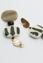 Joy Collectables - Marble-look statement earrings - multi