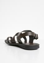 MAZERATA - Jerry sandals - dark brown