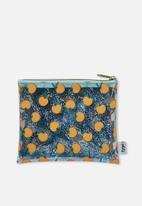 Typo - Clear it pencil case - blue & peach