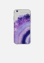 Typo - Transparent iPhone cover - purple