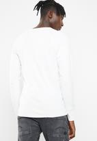 G-Star RAW - Korpaz grandad long sleeve tee - white