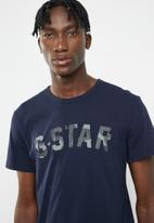 G-Star RAW - Graphic 10 short sleeve tee - blue