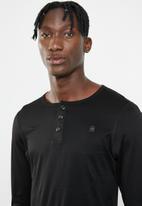 G-Star RAW - Korpaz grandad long sleeve tee - black