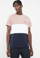 New Look - Brkyln embroidered colour-block short sleeve tee - multi